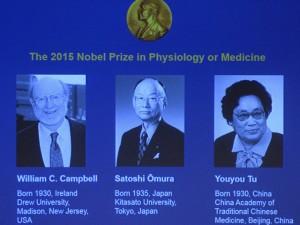 Nobel Y học 2015 cho thuốc chống sốt rét, chống giun gây mù mắt
