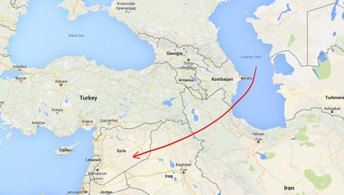 Video: Tàu chiến Nga bắn 26 tên lửa tấn công IS - 1