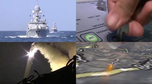 Video: Tàu chiến Nga bắn 26 tên lửa tấn công IS - 2