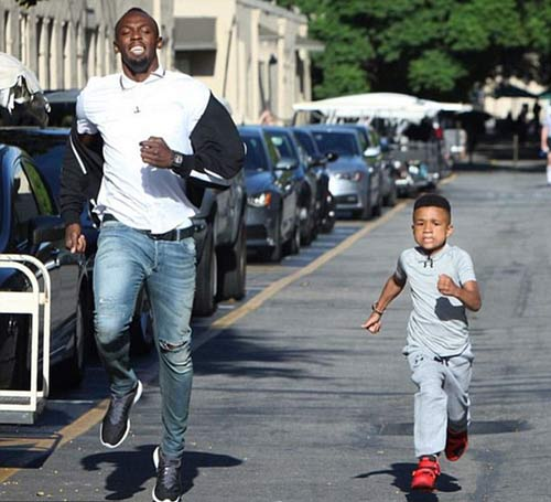 """""""Tia chớp"""" Usain Bolt chạy thua nhóc 8 tuổi - 3"""