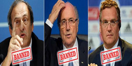 """Hỗn loạn: """"Bố già"""" Blatter và Platini bị treo quyền - 1"""