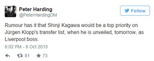 Klopp ra mắt Liverpool, tính mang theo Kagawa - 2