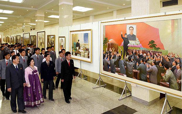 """Vệ tinh """"soi"""" quy mô kỉ niệm 70 năm Đảng Lao động Triều Tiên - 2"""