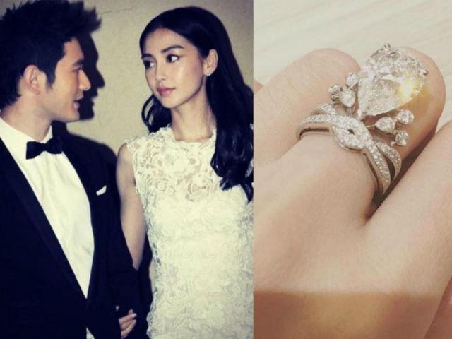 Váy cưới và nhẫn tiền tỉ tại đám cưới của Angelababy