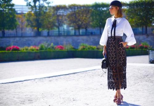 Ngắm tín đồ đẹp lộng lẫy giữa nắng vàng Paris - 12