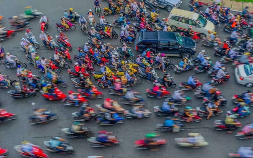 Hình ảnh tắc đường khủng khiếp trên thế giới - 10