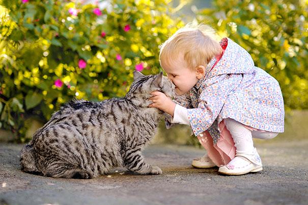20 bức ảnh chứng tỏ bé nên có một bạn mèo - 13