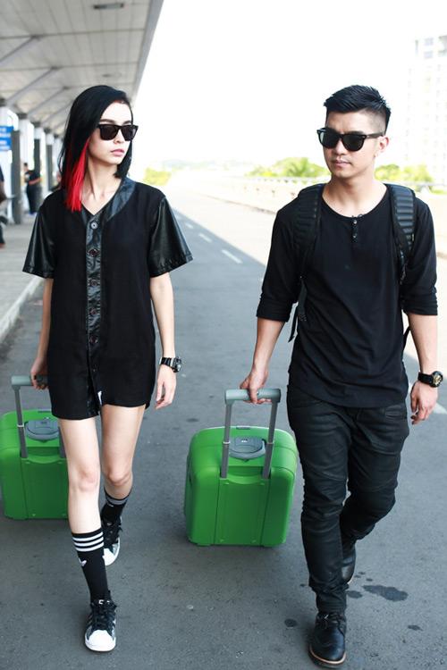 """""""Soi"""" thời trang của hot girl Việt ở sân bay đông đúc - 12"""