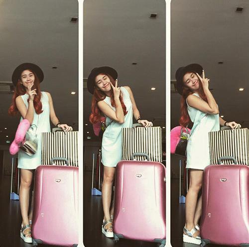 """""""Soi"""" thời trang của hot girl Việt ở sân bay đông đúc - 10"""