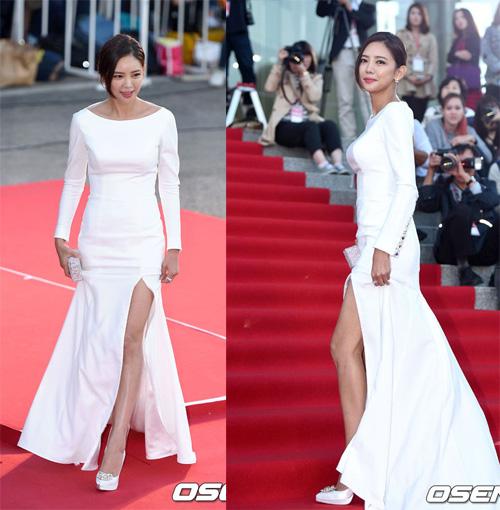 Kiều nữ Hàn Quốc ăn mặc hớ hênh trên thảm đỏ - 10