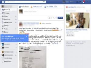 Facebook của người dùng Việt Nam đổi giao diện