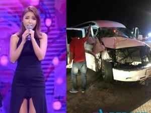 Xe chở ca sỹ Hàn bị tai nạn, hư hỏng nặng