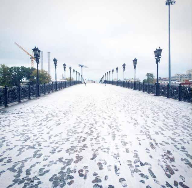 Tuyết đầu mùa phủ trắng thủ đô Nga - 2