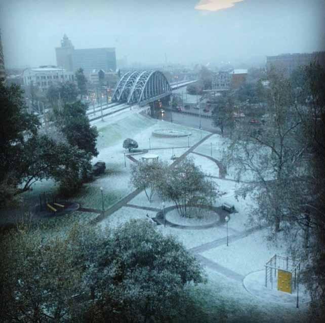Tuyết đầu mùa phủ trắng thủ đô Nga - 5