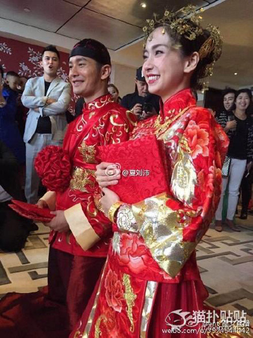 Váy phù dâu trong lễ cưới Angelababy bị chê rẻ tiền - 9