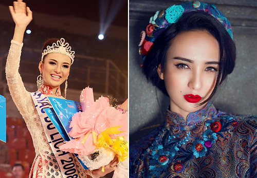 """Nhan sắc """"lai Tây"""" đẹp mê hồn của dàn hoa hậu Việt - 11"""