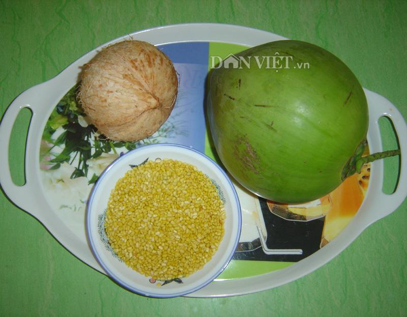 Thơm mát chè đậu xanh nước dừa xiêm Bến Tre - 1