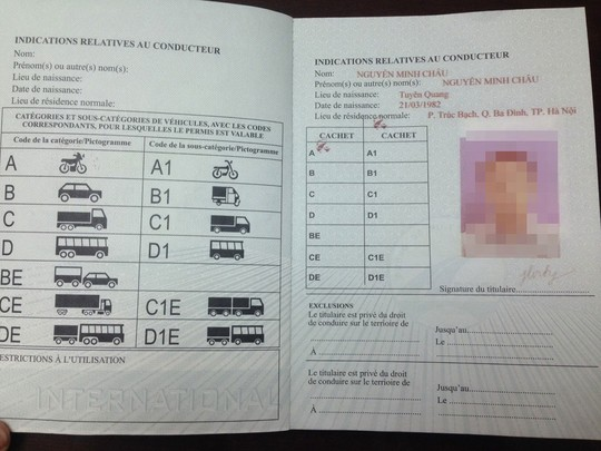 Chưa thể cấp giấy phép lái xe quốc tế - 1