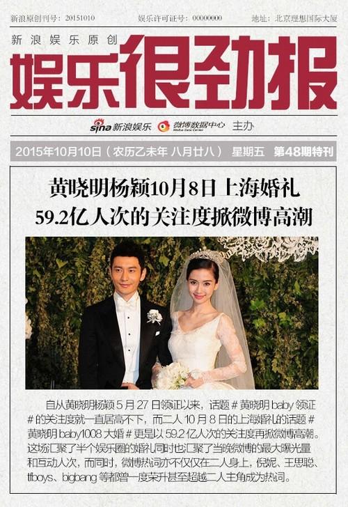 Gần 6 tỷ lượt theo dõi đám cưới Huỳnh Hiểu Minh qua mạng - 1