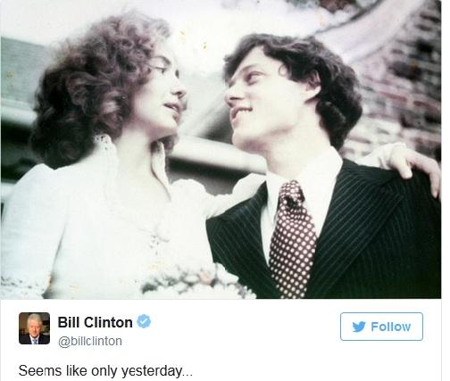 Vợ chồng bà Hillary Clinton kỷ niệm 40 năm ngày cưới - 2