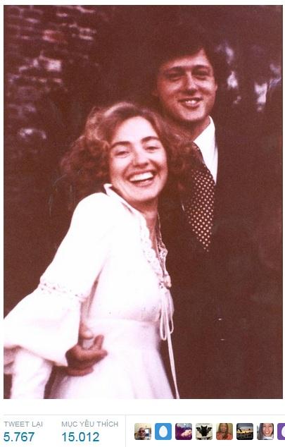 Vợ chồng bà Hillary Clinton kỷ niệm 40 năm ngày cưới - 3