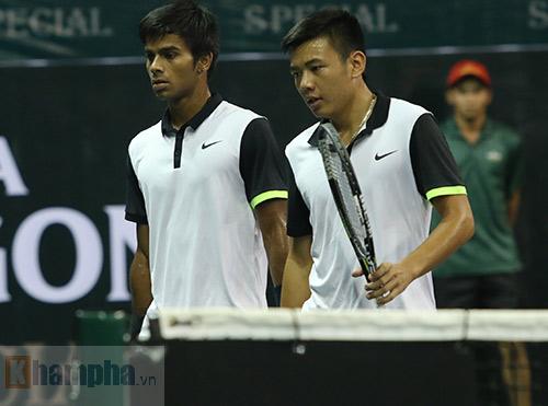 Cặp Hoàng Nam - Nagal thất thủ ở vòng đầu VN Open 2015 - 3