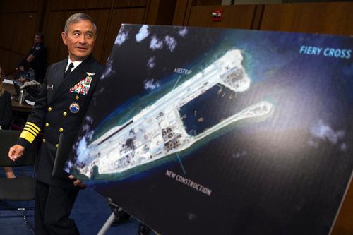 Mỹ sẽ tuần tra gần đảo nhân tạo TQ xây trên Biển Đông - 1