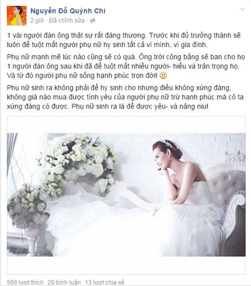 Hot girl Quỳnh Chi đăng status đồng cảm với Midu - 2
