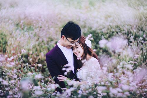 Mê mẩn bộ ảnh cưới giữa cánh đồng hoa tam giác mạch - 1