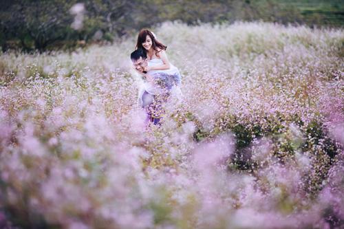 Mê mẩn bộ ảnh cưới giữa cánh đồng hoa tam giác mạch - 3