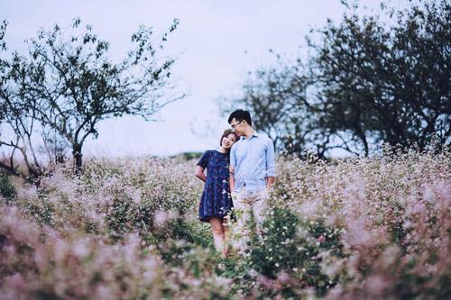 Mê mẩn bộ ảnh cưới giữa cánh đồng hoa tam giác mạch - 7