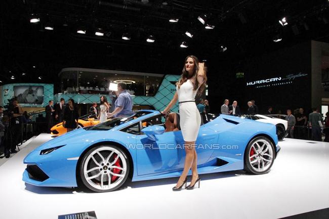 Siêu xe Huracan Spyder được Lamborghini trình làng tại Frankfurt Motor Show vào tháng 9 vừa qua.