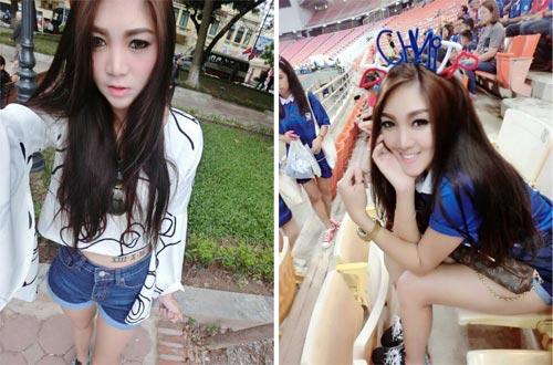 """Hot girl Thái Lan cổ vũ """"nóng bỏng"""" gây sốt Mỹ Đình - 6"""