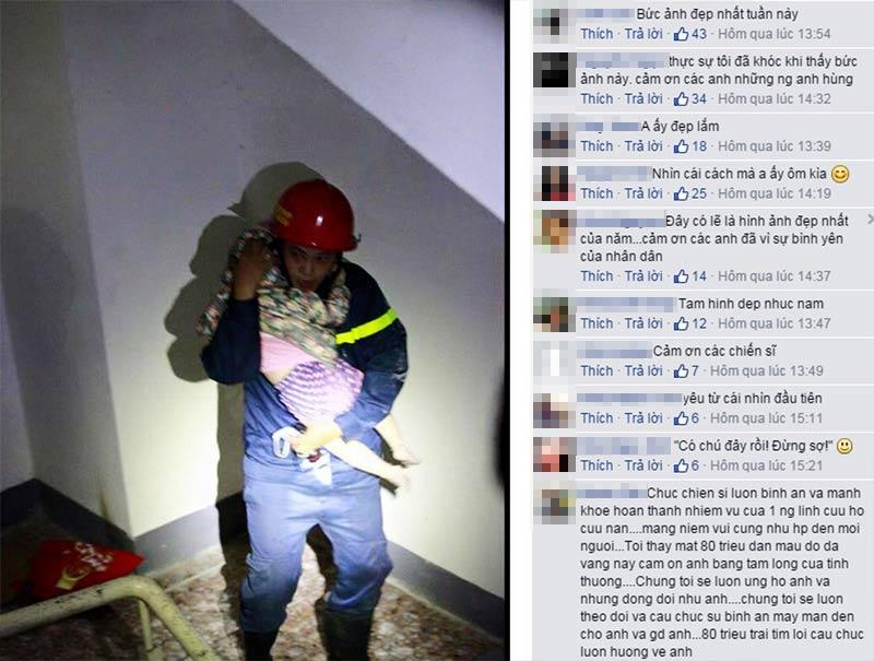 Gặp lính cứu hỏa trong bức ảnh ôm bé gái gây xúc động - 1