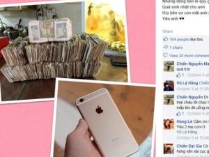 Người vợ trẻ tiết kiệm tiền lẻ mua iPhone 6 Plus tặng chồng