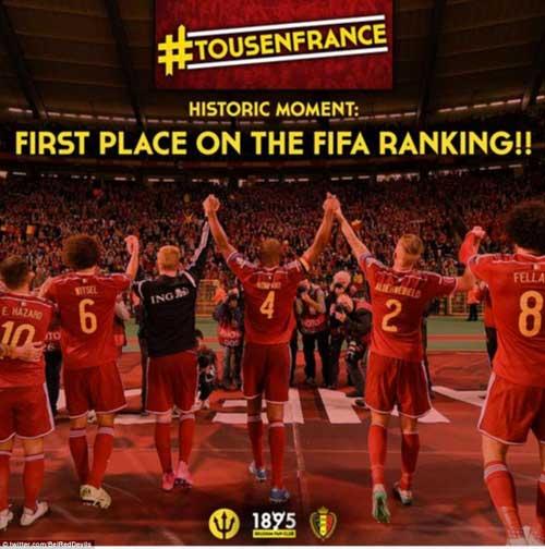 Bỉ vượt mặt Argentina, Đức lên số 1 thế giới - 5