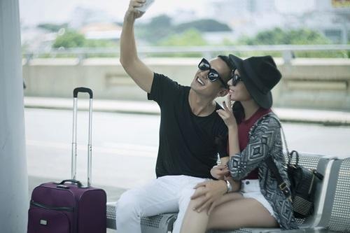 Vợ chồng Lương Thế Thành tình tứ ở sân bay - 6