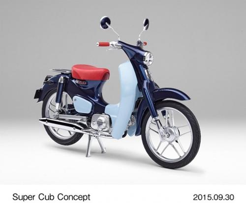 Ngắm huyền thoại Honda Super Cub có đồng hồ điện tử - 1