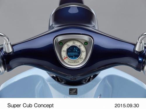 Ngắm huyền thoại Honda Super Cub có đồng hồ điện tử - 2
