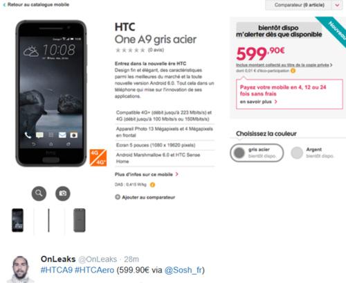 HTC One A9 chưa ra mắt đã lộ giá bán - 2