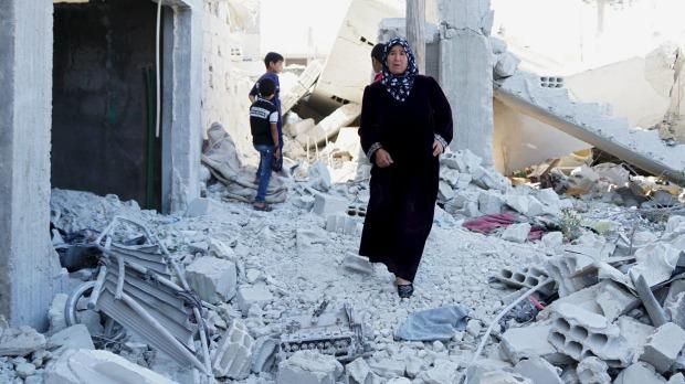 Ảnh: Cảnh thanh bình hiếm hoi trong đổ nát ở thủ đô Syria - 3