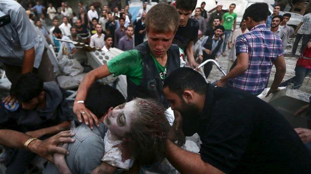 Ảnh: Cảnh thanh bình hiếm hoi trong đổ nát ở thủ đô Syria - 5