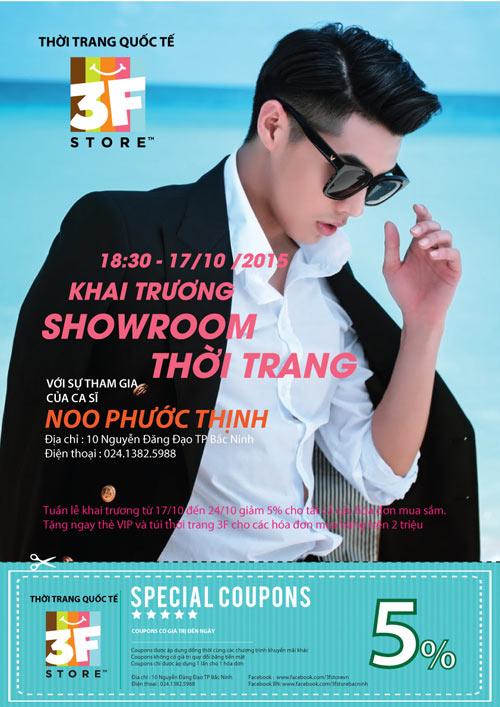 Noo Phước Thịnh dự khai trương thời trang 3f Store tại Bắc Ninh - 1