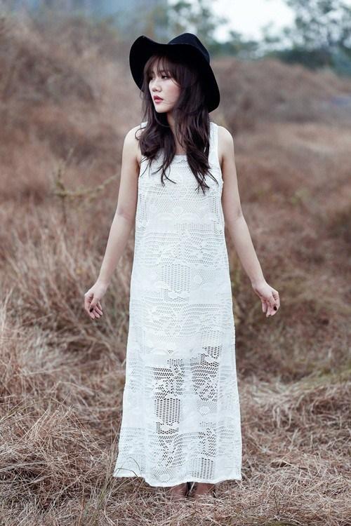 Sức hút tuyệt vời từ những chiếc váy ren trắng - 7