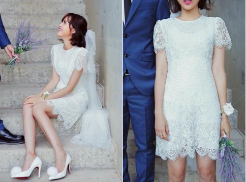 Sức hút tuyệt vời từ những chiếc váy ren trắng - 13