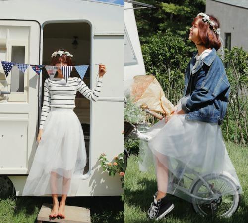 Sức hút tuyệt vời từ những chiếc váy ren trắng - 5