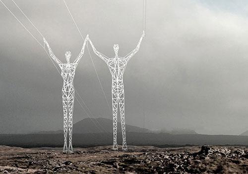Ý tưởng táo bạo: Biến cột điện thành tượng khổng lồ - 6