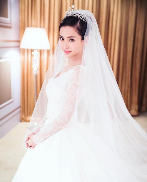 Váy tiền tỷ của Angelababy bị nhái, bán siêu rẻ - 1