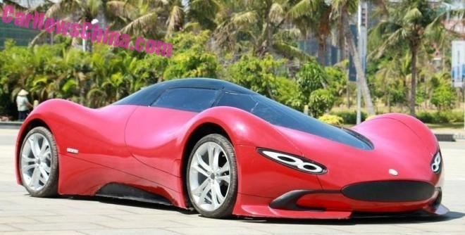 Sinh viên Trung Quốc phát triển xe ô tô điện thể thao cực ngầu - 1
