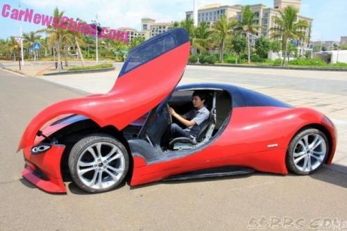 Sinh viên Trung Quốc phát triển xe ô tô điện thể thao cực ngầu - 4